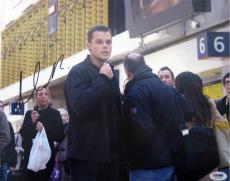 Matt Damon Signed Bourne Identity Autographed 11x14 Photo (PSA/DNA) #J03208