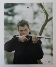 Matt Damon Signed Bourne Identity Autographed 11x14 Photo (PSA/DNA) #J03223