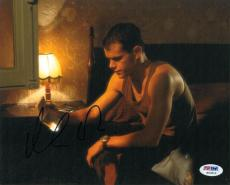 Matt Damon Signed Bourne Identity Autographed 8x10 Photo (PSA/DNA) #H03853