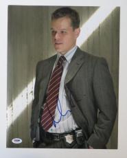 Matt Damon Signed Departed Authentic Autographed 11x14 Photo (PSA/DNA) #J03232