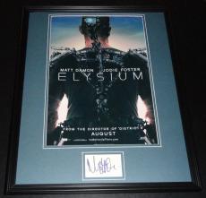 Matt Damon Signed Framed 16x20 Photo Poster Display Elysium