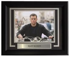 Matt Damon Signed Framed 8x10 The Bourne Supremacy Photo PSA AD83883