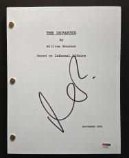 Matt Damon Signed Full 153 Page The Departed Movie Script Psa Dna Coa