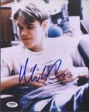 Matt Damon Signed 'good Will Hunting' 8x10 Photo Oscar Winner Autograph Psa/dna