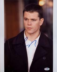 Matt Damon Signed Jason Bourne 11x14 Photo PSA/DNA V27855 Auto Autograph