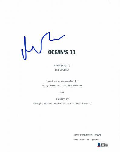 Matt Damon Signed 'oceans 11' Full Script Screenplay Authentic Auto Beckett Bas