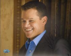 Matt Damon Signed Ocean's 11 12 13 8x10 Photo Picture PSA/DNA COA Autographed