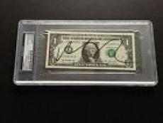 Matt Damon Signed One Dollar Bill Psa Dna Encapsulated Currency Autograph