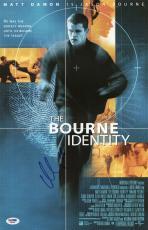 Matt Damon Signed The Bourne Identity 11x17 Movie Poster Psa Coa X68068