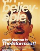 MATT DAMON signed *THE INFORMANT* 8X10 *PROOF* COA