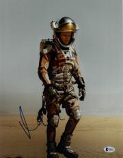 Matt Damon signed The Martian 11X14 Photo (vertical)- Beckett Holo #C44417