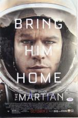 "MATT DAMON Signed ""The Martian"" 12x18 Photo Poster PSA/DNA #AB97489"