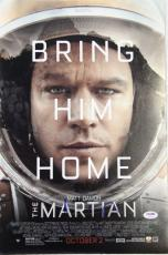 "MATT DAMON Signed ""The Martian"" 12x18 Photo Poster PSA/DNA #AB97489"