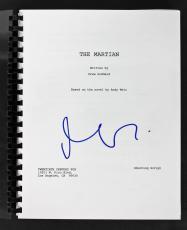 Matt Damon Signed The Martian Movie Script PSA/DNA #AC43486