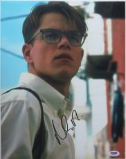 Matt Damon Signed The Talented Mr. Ripley Autographed 11x14 Photo PSA/DNA J03230
