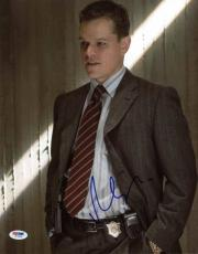 Matt Damon The Departed Signed 11X14 Photo Autographed PSA/DNA #W79936