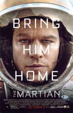 Matt Damon The Martian Signed 11x17 Photo Autographed BAS #C15348