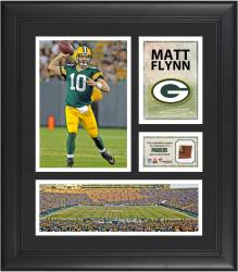 Matt Flynn Green Bay Packers Framed 15'' x 17'' Collage with Game-Used Football