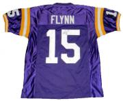 Matt Flynn Signed Autographed Lsu Tigers #15 Purple Jersey Jsa