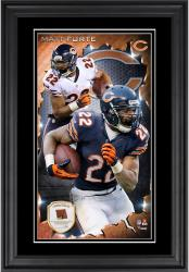 Matt Forte Chicago Bears 10'' x 18'' Vertical Framed Photograph with Piece of Game-Used Football - Limited Edition of 250
