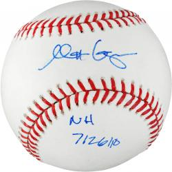 "Matt Garza Autographed Baseball with ""No Hitter 7/26/10"" Inscription"