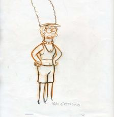 MATT GROENIG Hand Drawn Production Cel Signed PSA DNA Marge Simpson Autograph