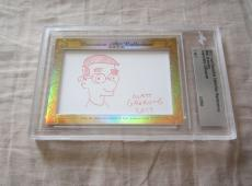 Matt Groening 2017 Leaf Masterpiece Cut Signature auto 1/1 Milhouse Simpsons JSA