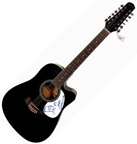 Matt Groening Autographed Signed Acoustic Bart Simpson Guitar UACC RD COA AFTAL