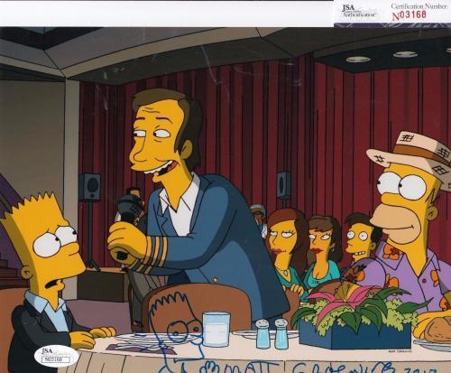 Matt Groening autographed The Simpsons 8x10 photo sketch JSA Authentic N03168