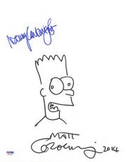 Matt Groening Cartwright SIGNED 11x14 The Simpsons Sketch FULL LETTER PSA/DNA
