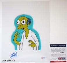 MATT GROENING!! Harry Shearer MR BURNS Signed THE SIMPSONS 8x10 Photo #1 PSA/DNA