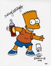 Matt Groening Nancy Cartwright SIGNED 11x14 Photo Simpsons PSA/DNA AUTOGRAPHED