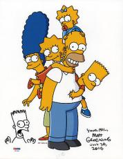 Matt Groening SIGNED 11x14 CREATOR The Simpsons Bart Sketch PSA/DNA AUTOGRAPHED