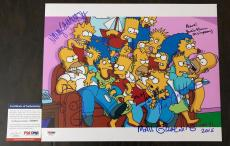 Matt Groening Signed 11x14 The Simpsons w/Homer Drawing PSA/DNA