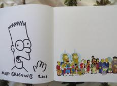 Matt Groening signed auto autograph doodled Simpsons Ultimate Episode Guide book