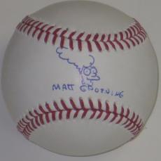Matt Groening Signed Autographed Baseball Simpsons Autograph Exact Proof Psa/dna