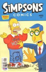 "MATT GROENING Signed Autographed ""The Simpsons"" Comic Book PSA/DNA #U90288"