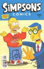 "MATT GROENING Signed Autographed ""The Simpsons"" Comic Book PSA/DNA #U90288"