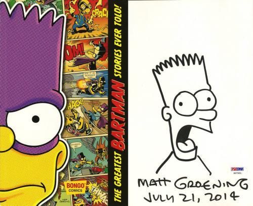 Matt Groening SIGNED Bartman Simpsons SDCC 2014 w/ Sketch PSA/DNA AUTOGRAPHED