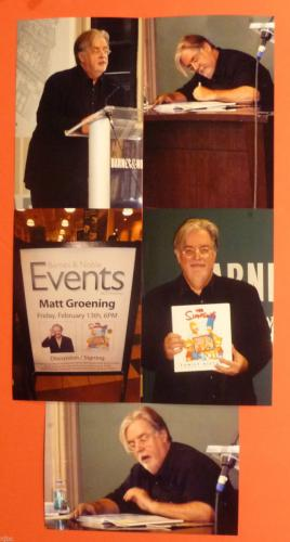 Matt Groening Signed Book With Bart Sketch The Simpsons Family History + 10 Pics