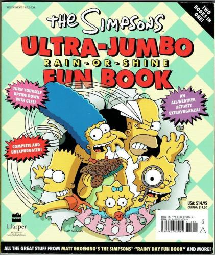 Matt Groening Signed Simpsons Autographed Book w/ Bart Sketch PSA/DNA #W69079