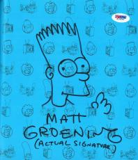 Matt Groening Signed The Simpsons Autographed Book & Sketch PSA/DNA #G15649