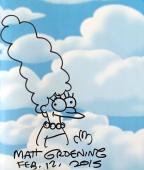 Matt Groening Signed The Simpsons Family History Book + Marge Sketch 1/1 Psa/dna