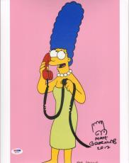 "MATT GROENING The Simpsons ""Marge"" Signed Autographed 11x14 Photo PSA/DNA W32544"