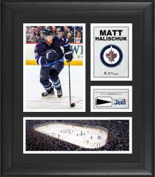 "Matt Halischuk Winnipeg Jets Framed 15"" x 17"" Collage with Piece of Game-Used Puck"