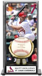 Matt Holliday St. Louis Cardinals Baseball Display Case with Gold Glove & Plate