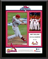 "Matt Holliday St. Louis Cardinals 2013 National League Champions Sublimated 10.5"" x 13"" Plaque"