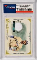 Matt Kemp Los Angeles Dodgers 2014 Topps Allen & Ginter #FSR-MK Card with a Piece of Game Used Jersey