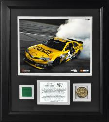 Matt Kenseth 2013 Geico 400 Framed 8'' x 10'' Photograph with Gold Coin & Race-Used Flag - Limited Edition of 120 - Mounted Memories