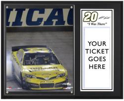 Matt Kenseth 2013 Geico 400 Sublimated 12'' x 15'' I Was There Plaque - Mounted Memories